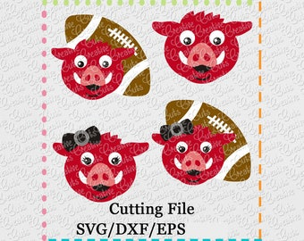 EXCLUSIVE SVG eps DXF Cutting File Hog Football svg, mascot svg, football svg, hog svg, razorback svg, razorbacks svg razorback football svg