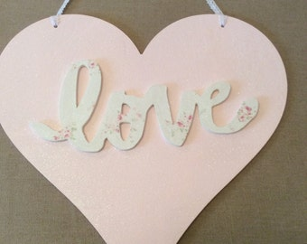 SALE Love Heart Plaque