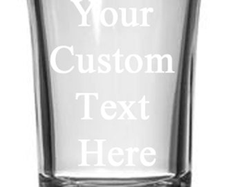 Personalized Shot Glass (1.5oz) Free Engraving Groomsman and Bridesmaid Custom Gift