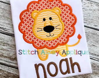Lion, Circus, Baby Machine Applique Design