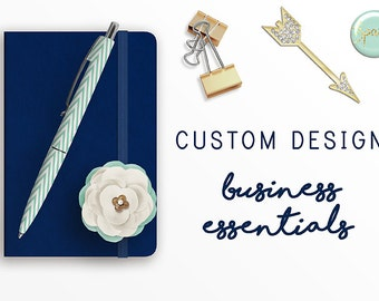Business Essentials, Custom Logo Design, Business Card, Letterhead, Brand Board, Note Card, Stationary Set