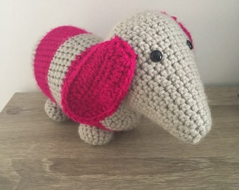 Crochet toy sausage dog - Made to Order