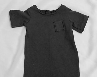 Grey oversized t-shirt dress for 18 inch american girl dolls