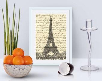 4x6 Paris card instant download, Eiffel tower card, 300 dpi jpeg, digital scrapbook paper, digital scrapbooking goodies