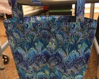 Walker Caddy Bag (swirls of blue)