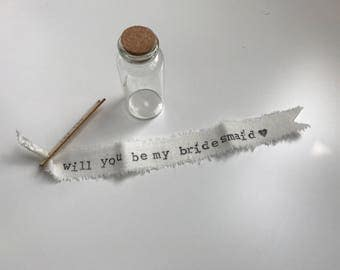 Will You Be My Bridesmaid/Message/Bottle