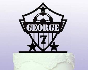 Personalised Football/Soccer Star Cake Topper