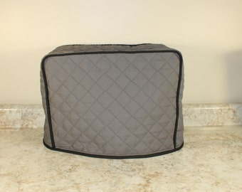 Cuisinart Bread Maker Cover 300+ Color Combinations (Gray/Black Shown)  M.T.O. FITS ANY BRAND/Model!  Great Gift for Anyone! Gift under 45