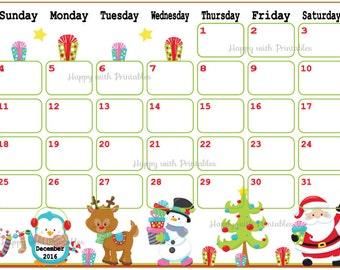 SALE Calendar 2017 Printables Cute Planner by HappywithPrintables