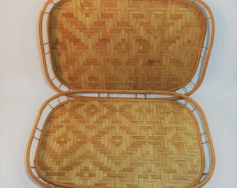 vintage serving trays lap trays rectangle serving trays