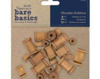 Bobbins, wooden bobbins, wood bobbins - craft supplies.