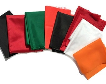 Vintage Nylon Flag Fabric in Colors of White, Green, Black and Red, Bunting Fabric, Bargain Fabric, Quiltsy Destash Party