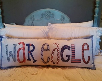 Made to Order - 'War Eagle' Applique Pillow