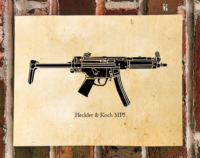 KillerBeeMoto: Limited Print HK MP5 Submachine Gun Print