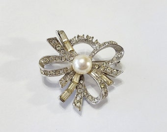 Vintage, Wedding, Bridal, Brooch, Pin, Rhinestone, Focal, Jewelry, Beading, Supply, Supplies, for Bridal Bouquet