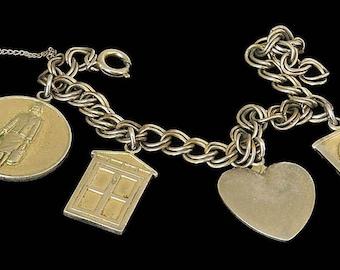 Vtg 1965 Avon Presidents Award Bracelet 4 Charms Originally Goldtone