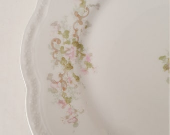 Mismatched China Dinner Plate Limoges-France Floral Design For Wedding, Dinner Party, Bridal Shower, Luncheon, Tea Party, Shabby Chic,  ,