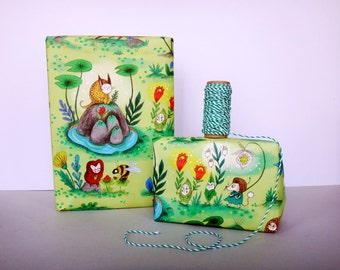 Forest Spirits Wrapping Paper / Gift Wrap / set of 3 sheets