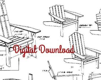 Folding Adirondack Chair Plans Dwg Files For Cnc Machines