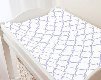 Carousel Designs Lilac Lattice Circles Changing Pad Cover