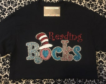 Reading Rocks Dr Seuss/Cat in the Hat shirt