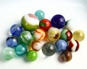 20 Vintage Marbles Misc.