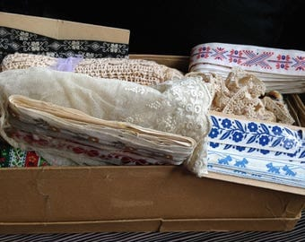 Lace & Trim Lots, Heirloom Sewing, French Lace Edging, Embellishment, Crochet, Tatting, Appliqués, White, Off White, Ivory, Floral, Cotton