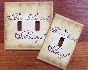 Harry Potter wedding quote light switch cover // After all this time Always // SAME DAY SHIPPING**