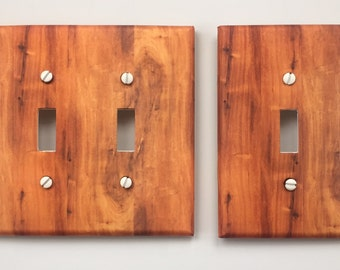Rustic Wood Light Switch Plate Cover // light brown image 58 // SAME DAY SHIPPING**