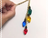 Holiday Lights Dangle Hair Pin (special sale pricing)
