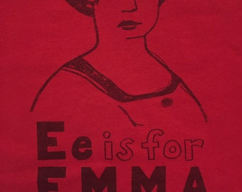 Feminist Shirt SALE- TEST/MISPRINT - Emma Goldman Adult Large