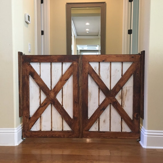 Custom Made Saloon Style Rustic Barn Door Baby Dog Gate By