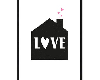 Digital Poster - The House - Love - Download