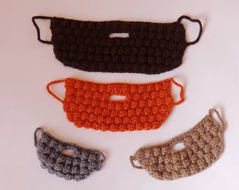 Beard Face Warmer - Newborn, Baby, Teen, Adult Choose Your size and Colorn