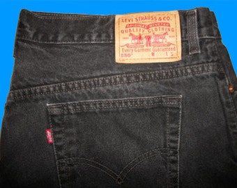 Levis 550 Relaxed Fit  16 S   Black