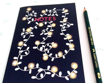 Fairylights A6 Notebook (Plain) - Perfect size for your handbag!