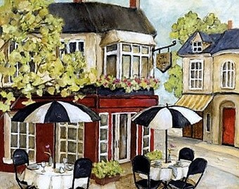 Corner Cafe 1 - Counted cross stitch pattern in PDF format
