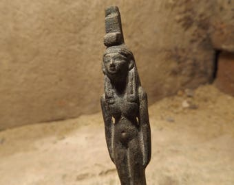 Egyptian statue - Isis - Great mother goddess of magic. Petite incense holder. Egyptian mythology