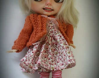 Blythe Cardigan and dress.