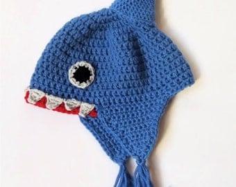 Crochet shark hat, baby shark hat, wool shark hat, newborn baby winter hat, ready to ship baby hat, baby photo prop