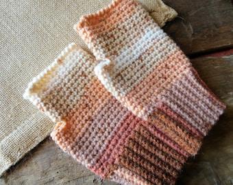 Crochet Mittens - Hand knit fingerless gloves