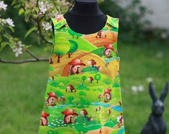 Girl's Dress, Girl's Pinafore, Party Dress, Fairy Dress,Toadstool Dress, A Line, Girl's Clothing, Children's Clothing, Toddler, Summer Dress