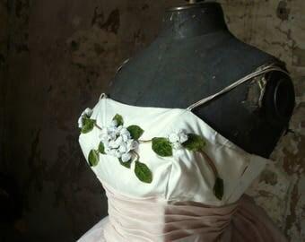 vintage prom  cherry blossom tulle dress