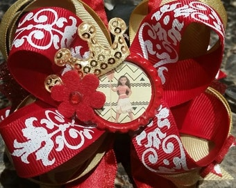 princess moana hairbow