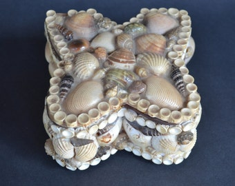 Vintage Shell Encrusted Box