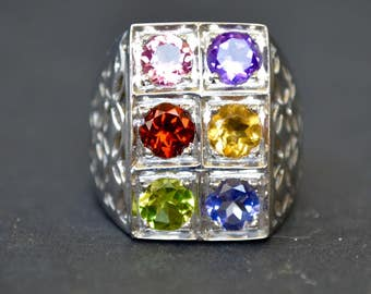 Sterling Ring with Gem Quality Stones