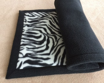 Extra absorbent Midwest cage liner, Fleece Cage Liner, Guinea pig cage liner, Pre wicked, 2 layers of Uhaul padding, Black n white stripe