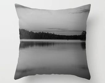 Black and White Pillow Cover, Throw Pillow Covers 20x20, Nature Pillow Cover 18 x 18, Decorative Pillows For Couch, Boundary Waters