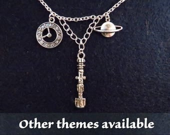 Doctor Who necklace (1) with the theme of your choice