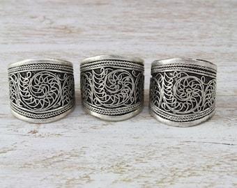 Filigree Amulet Boho Adjustable RIng